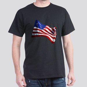 """American Revolutionary Flag 03"" Dark T-Shirt"