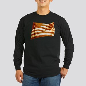 American Revolutionary Flag 04 Dark Long Sleeve T