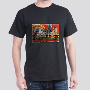 Pella Iowa Greetings (Front) Dark T-Shirt