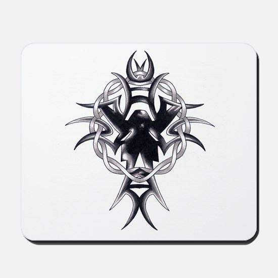 Celtic Cross Tribal Tattoo Mousepad