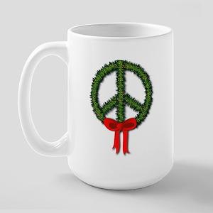 Peace Wreath Large Mug