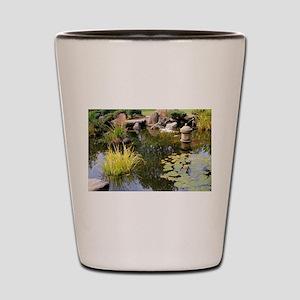 Reflections, Japanese garden pond Shot Glass
