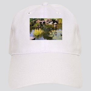 Reflections, Japanese garden pond Cap