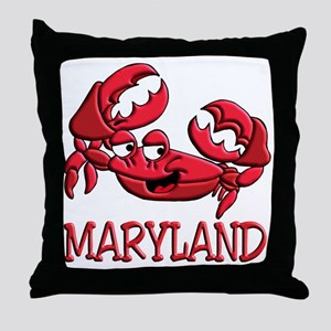 Maryland Crab Throw Pillow