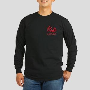 Maryland Crab Long Sleeve Dark T-Shirt