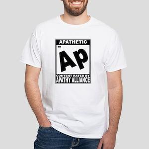 Apathy ESRB Rating White T-Shirt