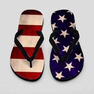 Stars and Stripes Artistic Flip Flops