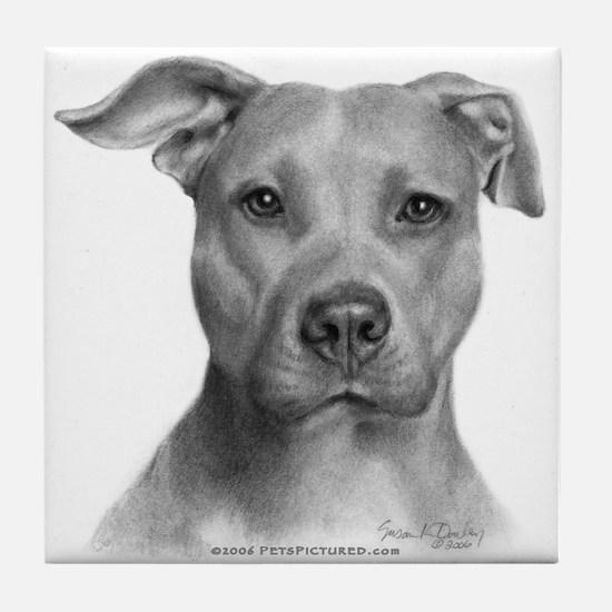 American Pit Bull Terrier Tile Coaster