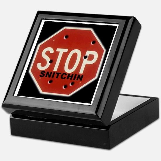 Cute Stop snitching Keepsake Box