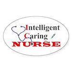 ICU Nurse Oval Sticker