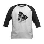 Jack (Parson) Russell Terrier Kids Baseball Jersey