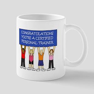 Certified personal trainer congratulations. Mugs