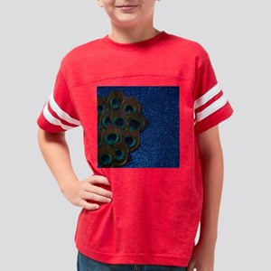 Blue Peacock Bouquet Youth Football Shirt