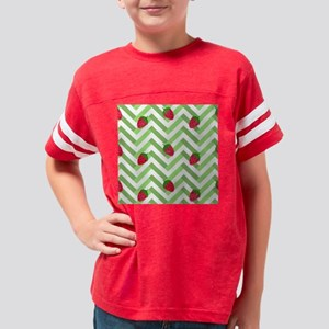 Strawberries and Chevrons Youth Football Shirt