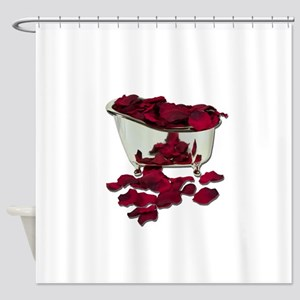 BathtubFilledWithPetals100711 Shower Curtain