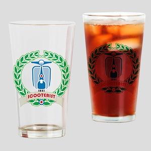 Mod Skinhead Scooterist Drinking Glass