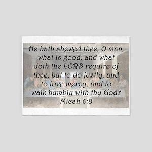 Micah 6:8 5'x7'Area Rug