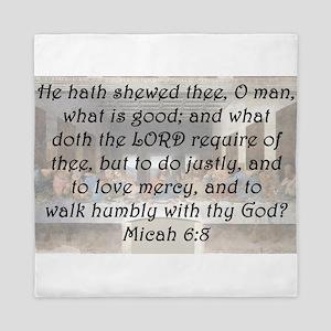 Micah 6:8 Queen Duvet
