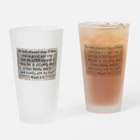 Micah 6:8 Drinking Glass