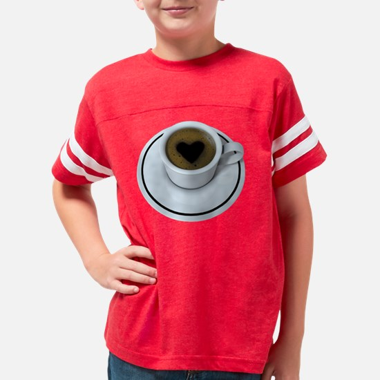 coffelovedark1 Youth Football Shirt