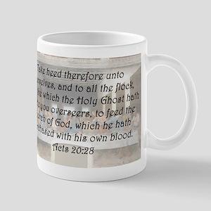 Acts 20:28 Mug