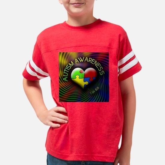 autismawareness-1in88-roundor Youth Football Shirt