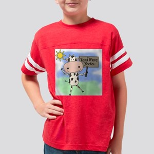 Cow Read More Books Youth Football Shirt