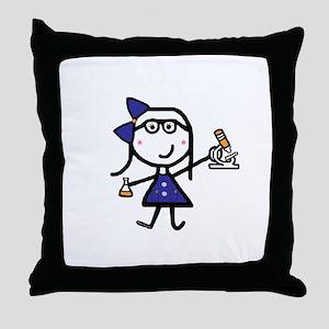 Microscope - Jen Throw Pillow