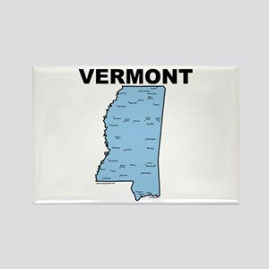 Vermont Mississippi Rectangle Magnet