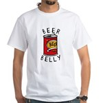 Beer Belly White T-Shirt