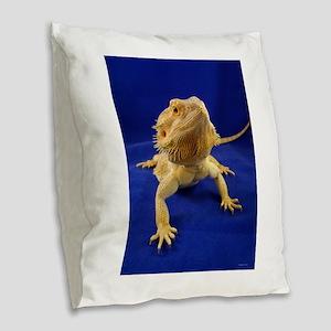 Bearded Dragon Burlap Throw Pillow