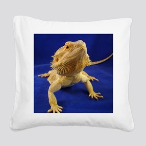 Bearded Dragon Square Canvas Pillow