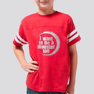 monster too white Youth Football Shirt