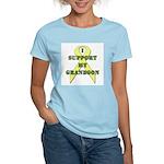 I Support My Grandson Women's Pink T-Shirt