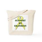 I Support My Grandson Tote Bag