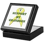I Support My Grandson Keepsake Box