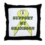 I Support My Grandson Throw Pillow
