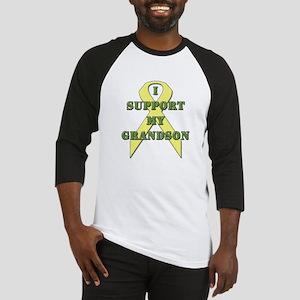 I Support My Grandson Baseball Jersey