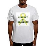 I Support My Grandson Ash Grey T-Shirt