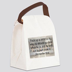 Proverbs 22;6 Canvas Lunch Bag