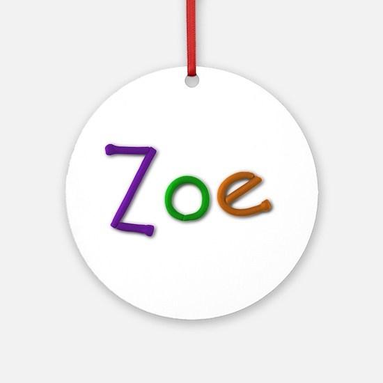 Zoe Play Clay Round Ornament