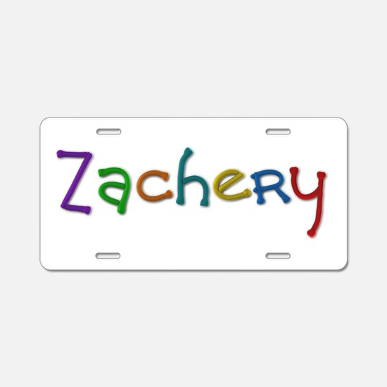 Zachery Play Clay Aluminum License Plate