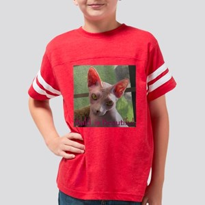 Bald is Beautiful Cp Tile  Youth Football Shirt