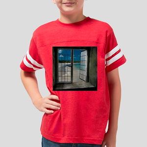 Beach Window View Youth Football Shirt