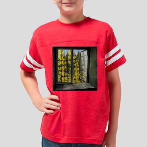 Forsythia Window View Youth Football Shirt