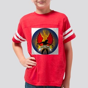 FALLEN-ANGEL-3-INCH-BUTTON Youth Football Shirt