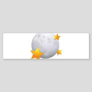 Moon - Night - Weather - Stars - Space Bumper Stic