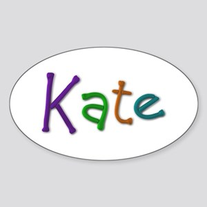 Kate Play Clay Oval Sticker