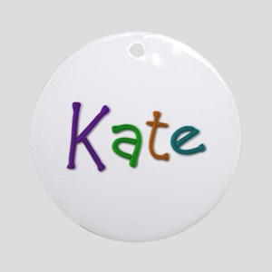 Kate Play Clay Round Ornament