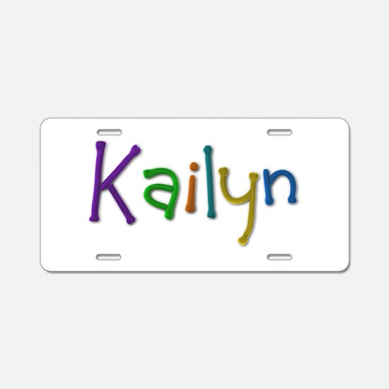 Kailyn Play Clay Aluminum License Plate